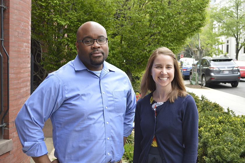 Victor Hall and Caitlin Sullivan manage the Society for Science & the Public's Advocate Grant Program.