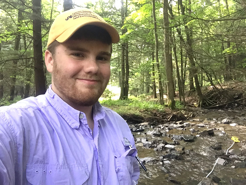 Vincent monitored watershed responses to Marcellus Shale drilling in Pennsylvania this summer.