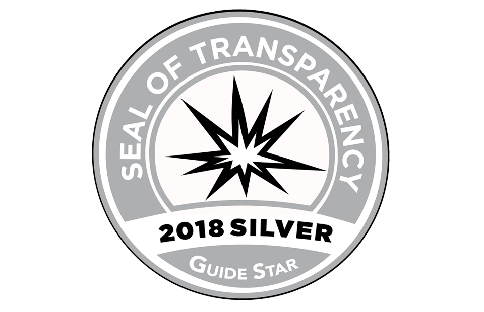 Guidestar Seal of Transparency Silver Award 2018