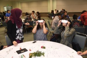 Students enjoying an activity at Education Outreach Day
