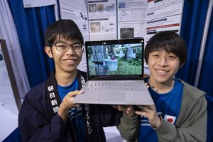 Japanese Finalists with their project at ISEF