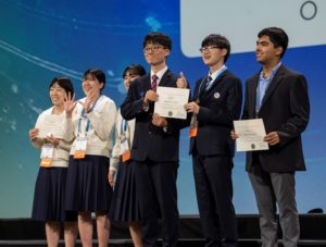 Special Award Winners on stage at ISEF 2019