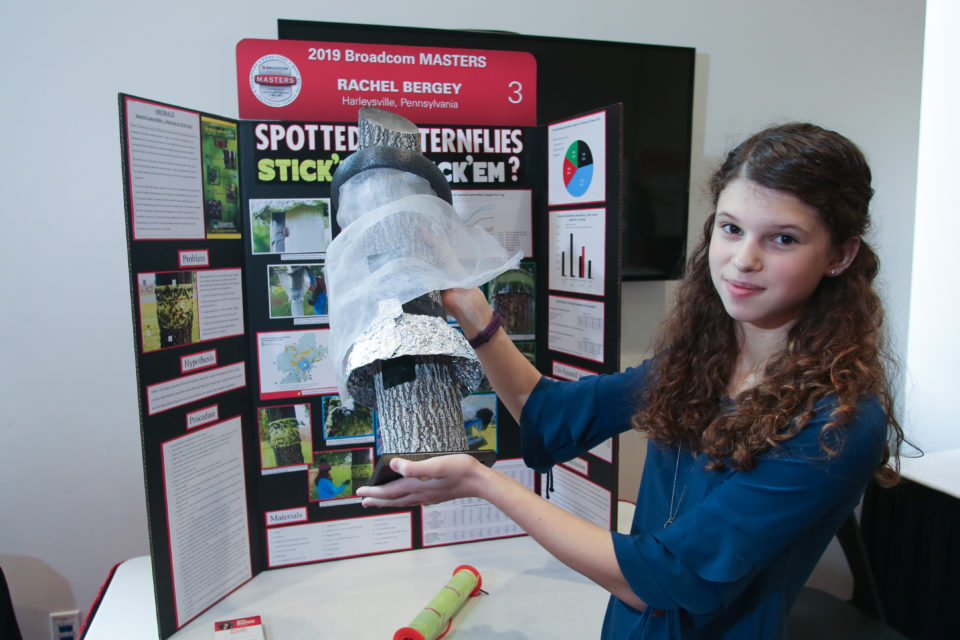 Rachel Bergey with her project