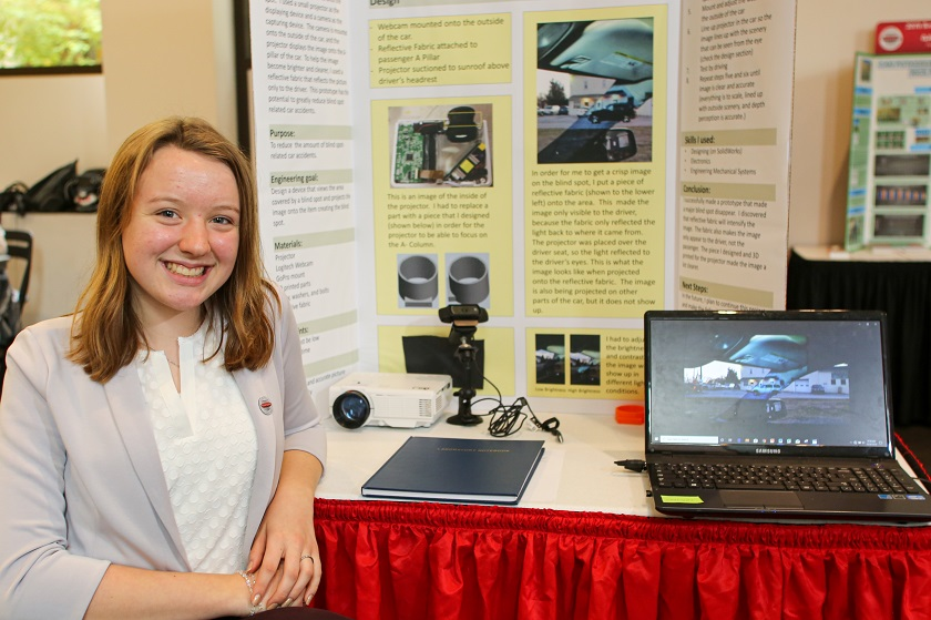 Alaina at Broadcom MASTERS public exhibition of projects