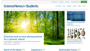Science News for Students website 2019