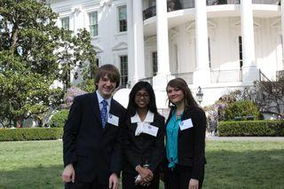 Attending the White House Science Fair in April 2013