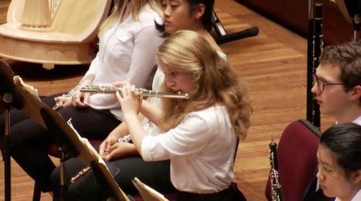 Sara Kornfeld Simpson has been a flautist for 11 years.