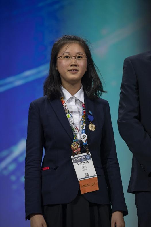 Shicheng on stage during the Intel ISEF 2019 Grand Awards Ceremony