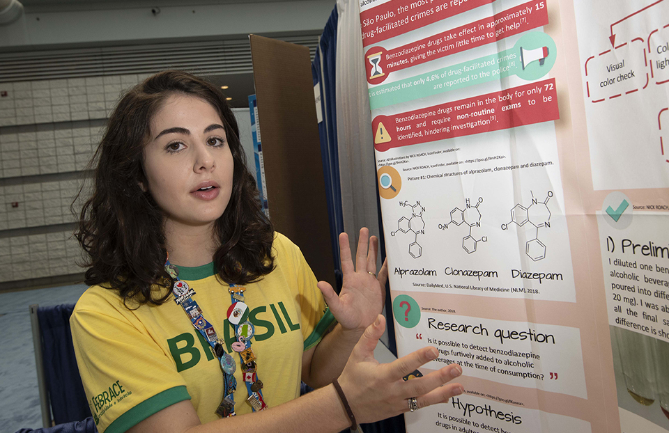 ISEF category Energy, Isabela Dadda Dos Reis, Brazil, 2018