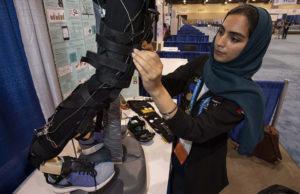 ISEF Category Biomedical Engineering, Sara Fekri, UAE, Smart Shoes and Exosuit