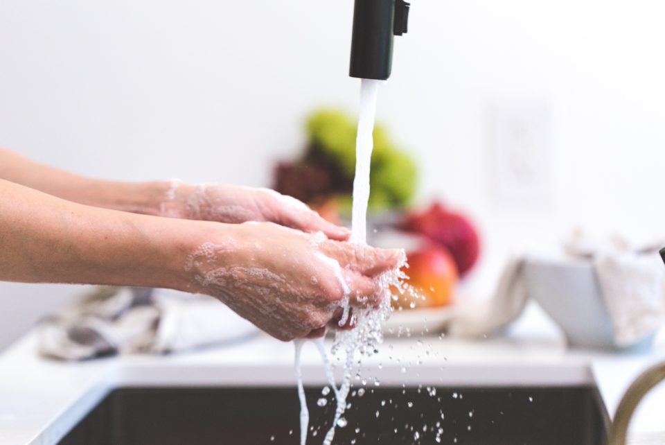 Picture of washing hands