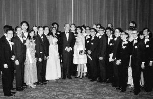 Vice President Humphrey with the 1967 Science Talent Search finalists at the awards gala.
