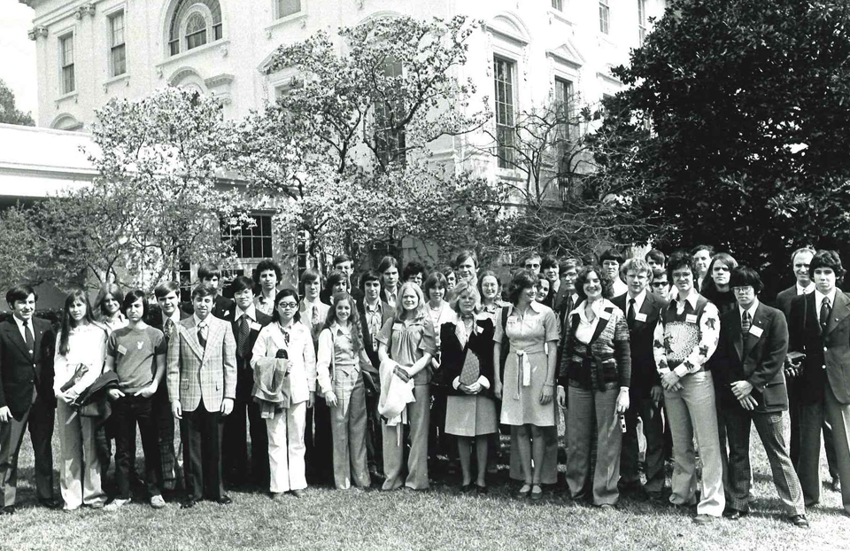 1976 Science Talent Search finalists at the White House.
