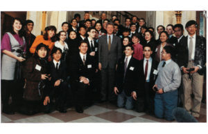 President Bill Clinton with the 1993 Science Talent Search finalists.