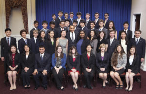 President Barack Obama with the 2012 Intel Science Talent Search finalists.