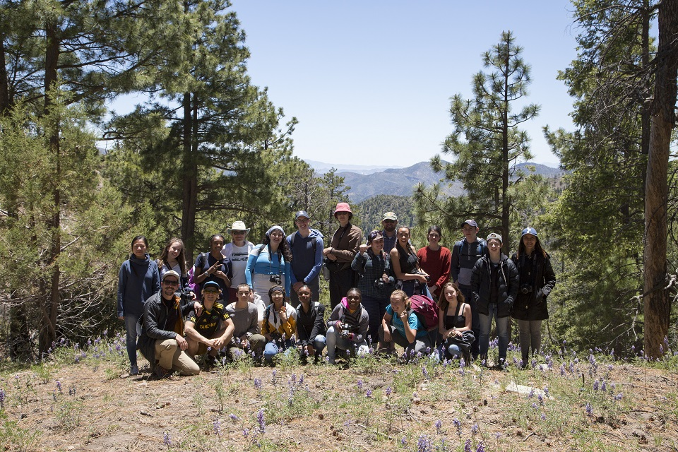 Jeremy and his students at the Chiricahua Mountains.
