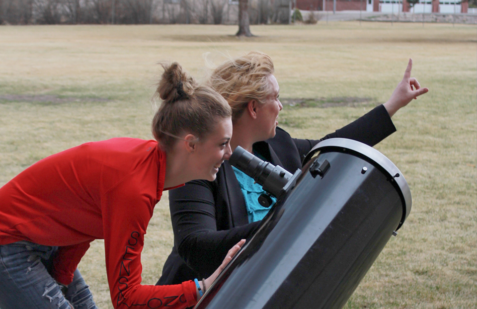 Teacher Debbie Morgan with Students