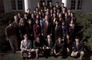 Intel Science Talent Search - 2001 - White House with President GWBush