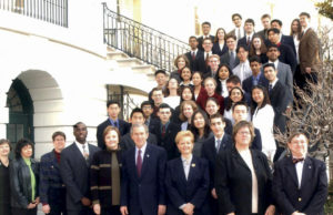 Intel Science Talent Search - 2002 White House with President GW Bush