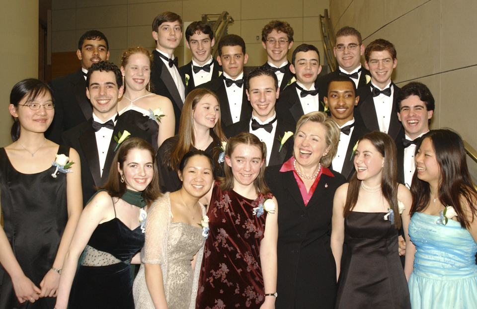 Intel Science Talent Search - 2003 Gala with Sen Hillary Clinton