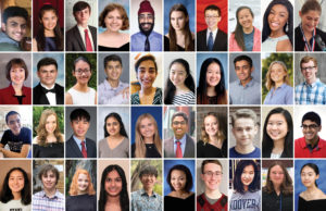 These are the 40 finalists in the Regeneron Science Talent Search 2020.