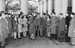 1941 Science Talent Search finalists at the White House with First Lady Eleanor Roosevelt