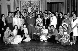 1942 Science Talent Search finalists at the White House with Vice President Wallace