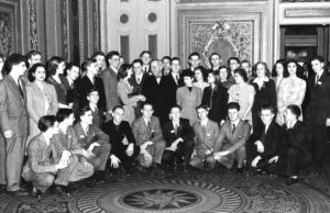 1945 Science Talent Search finalists with President Truman at the White House