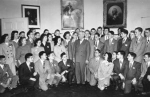 1947 Science Talent Search finalists with President Truman at the White House