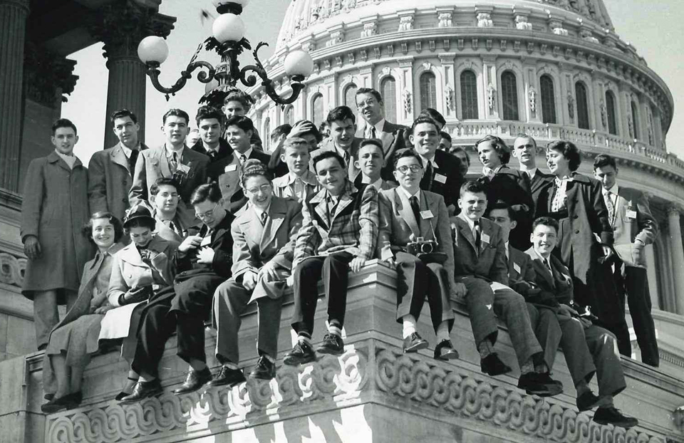 1950 Science Talent Search finalists at the Capitol. Westinghouse STS.