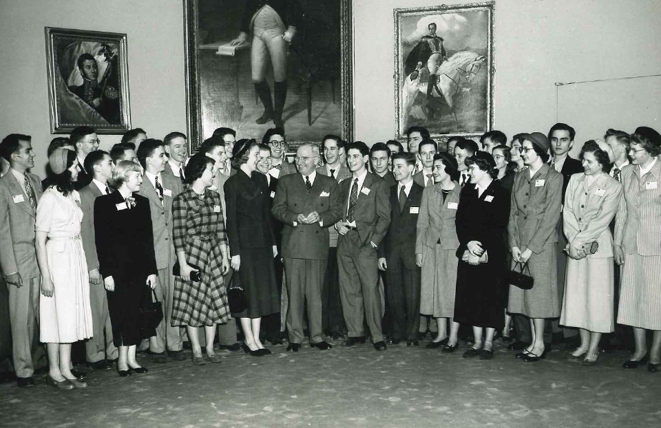 1951 Science Talent Search finalists with President Truman at the White House