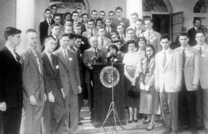 1952 Science Talent Search finalists with President Truman at the White House
