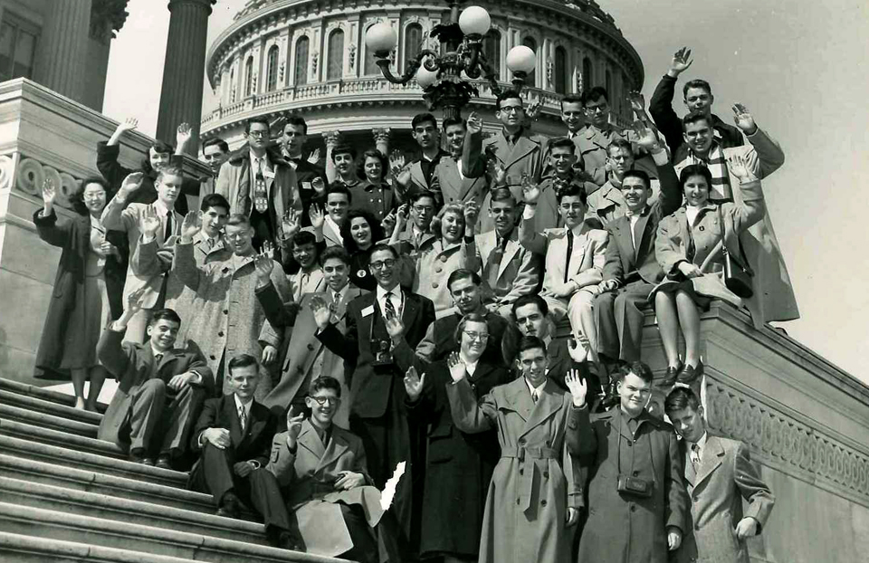 1953 Science Talent Search finalists at the Capitol. Westinghouse STS.