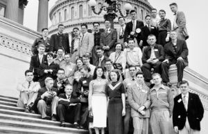 1954 Science Talent Search finalists at the Capitol. Westinghouse STS.