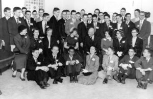 1955 Science Talent Search finalists at the White House with President Eisenhower. Westinghouse STS.