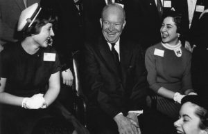 1955 Science Talent Search finalists at the White House with President Eisenhower.