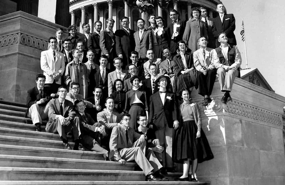 1956 Science Talent Search finalists at the Capitol.