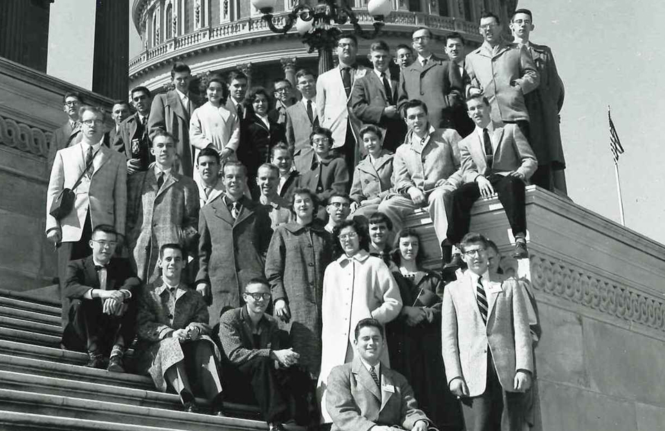 1957 Science Talent Search finalists at the Capitol