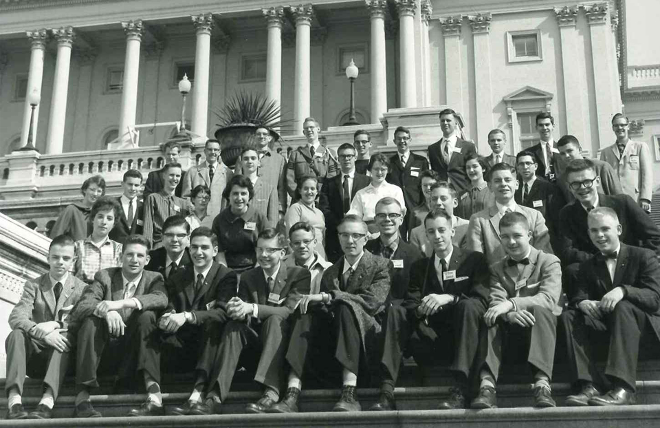 1959 Science Talent Search finalists at the Capitol