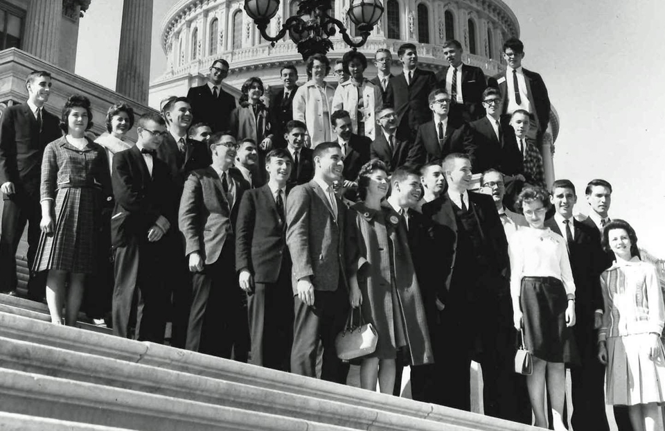 1963 Science Talent Search finalists at the Capitol