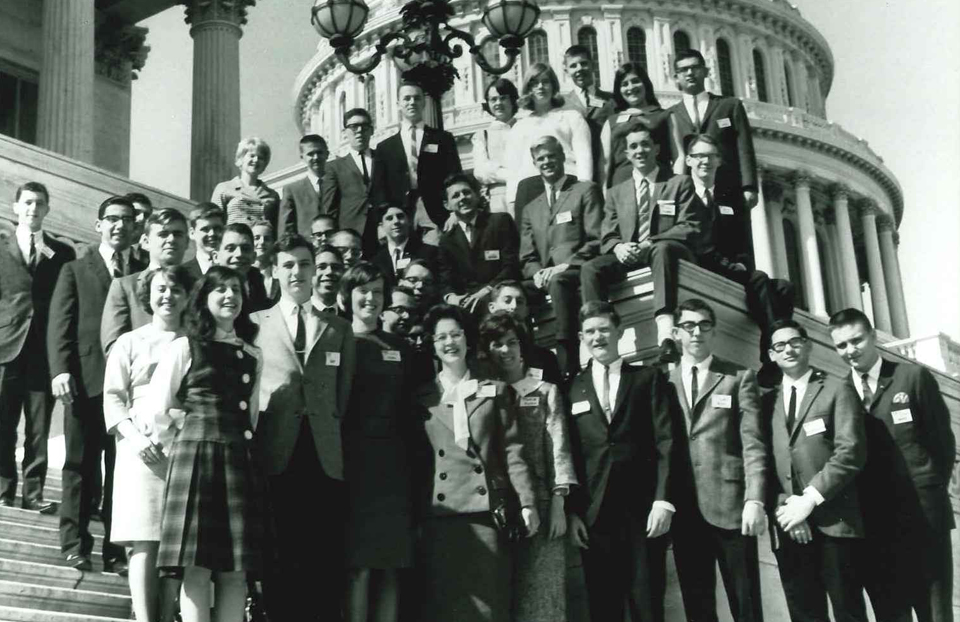 1965 Science Talent Search finalists at the Capitol