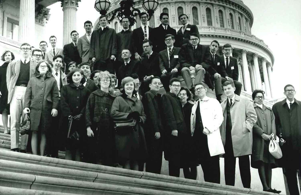 1966 Science Talent Search finalists at the Capitol