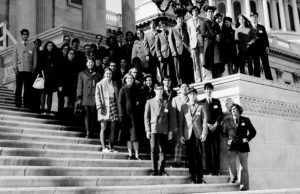 1971 Science Talent Search finalists at the Capitol.