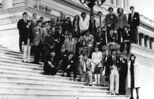 1973 Science Talent Search finalists at the Capitol.