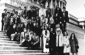 1975 Science Talent Search finalists at the Capitol. Westinghouse STS.