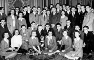 1943 Science Talent Search finalists at the White House with Vice President Wallace