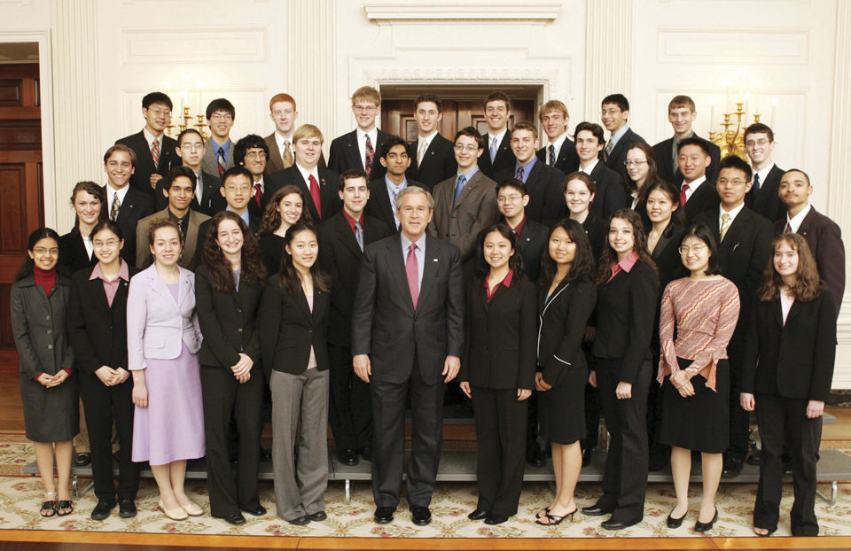 Science Talent Search 2005 President George W Bush