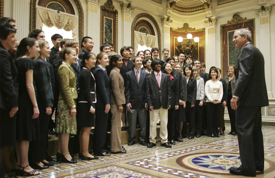 Science Talent Search 2006 with President George W Bush