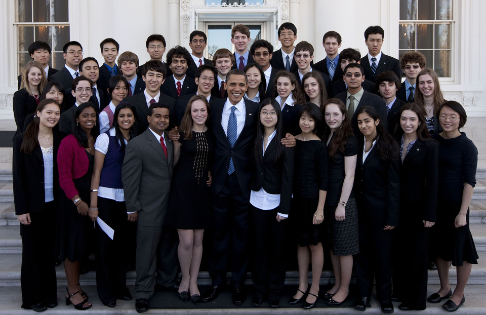 Science Talent Search 2009 at the White House with President Obama