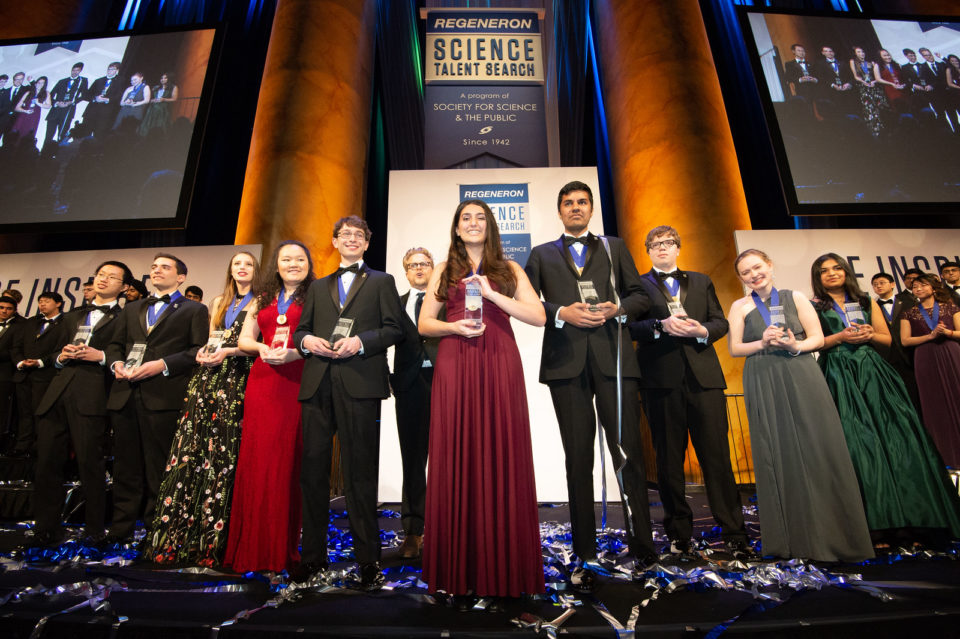 The top 10 winners of the Regeneron Science Talent Search 2019.